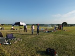 getting set up for a fun fly evening